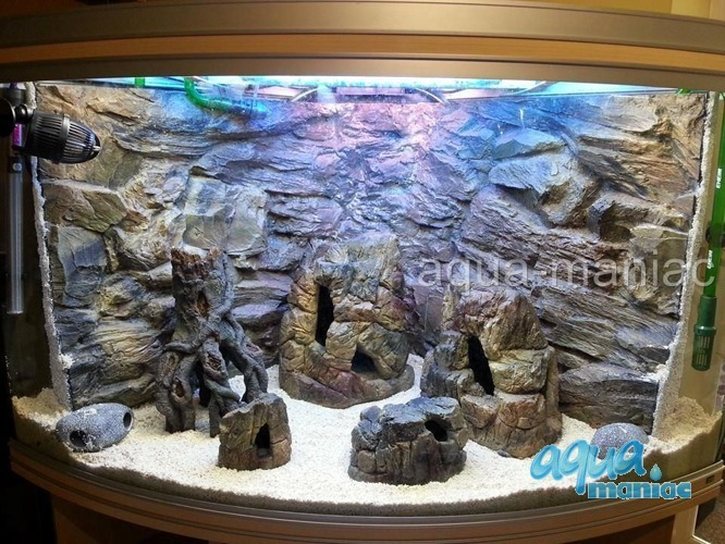 Bundle of 5 aquarium rocks for tropical fish tanks for for Aquarium decoration set