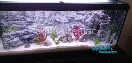 JUWEL RIO 180 3D grey rock background 98x40cm in 2 sections