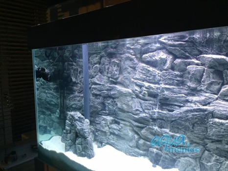 JUWEL RIO 240 3D grey rock background 117x45cm in 2 sections