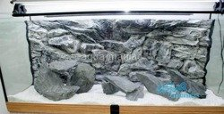 3D grey rock background 97x36cm