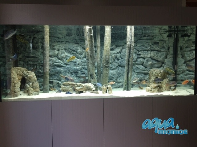 3D Background Grey Rock 97x45cm to fit Aqua Oak 110 Aquarium