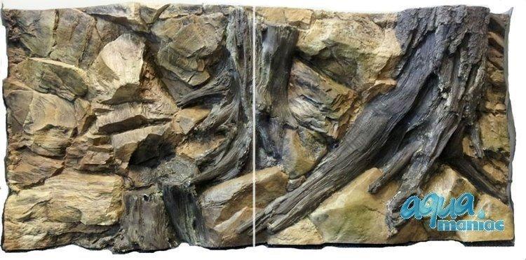 3D Background Root  113x54cm cm to fit Aqua Oak 230 Aquarium