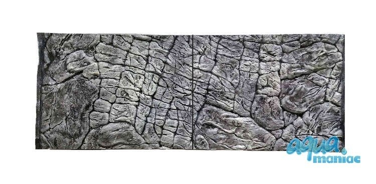 3D Background Thin Grey Rock 145x55cm to fit Aqua One Oakstyle 300 Aquarium