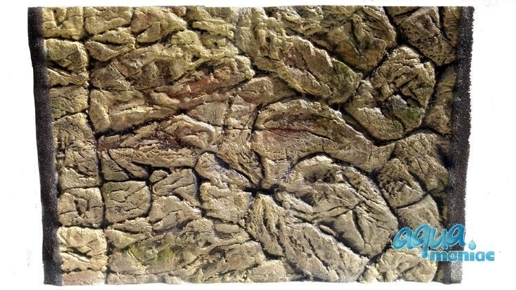 3D Thin Rock Background 117x56cm in 2 section to fit 4 foot by 2 foot tanks