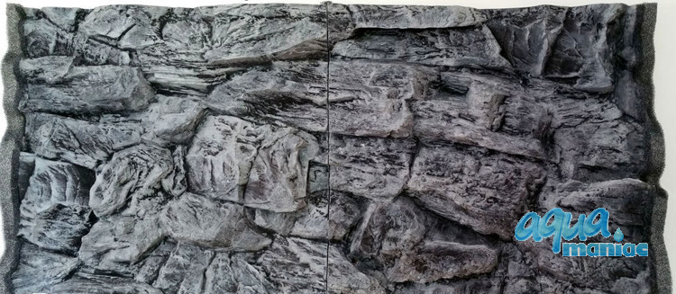 3D grey rock background 117x56cm in 2 sections to fit 4 foot by 2 foot tanks