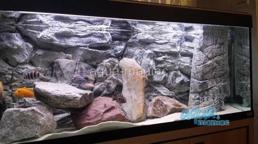 3D grey rock background 47x27cm