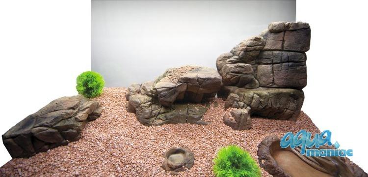 Aquarium Terrarium XL, large, medium, small ledge - bundle of 4 ledges