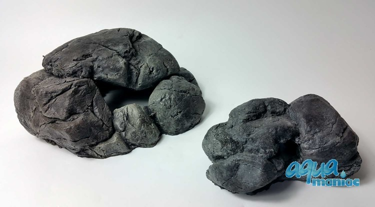 Bundle of 2 grey aquarium stones