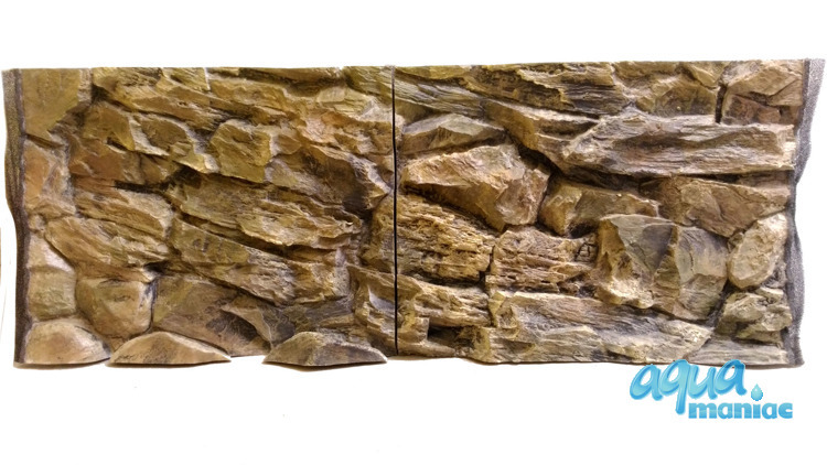 Fluval Vicenza 260 3D rock background 117x52cm in 2 sections
