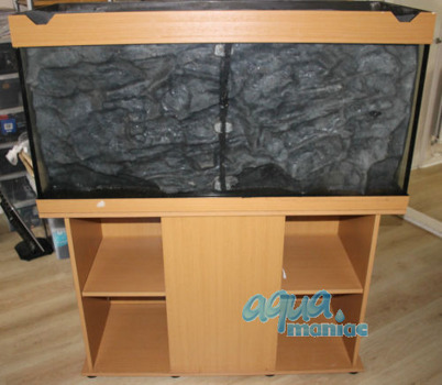 JUWEL RIO 400 3D grey rock background 147x58cm in 3 sections