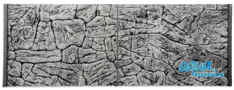 JUWEL RIO 400 3D thin grey rock background 147x58cm in 3 sections