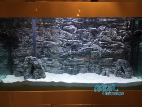 JUWEL Vision 400 3D grey rock background 147x53cm in 3 sections
