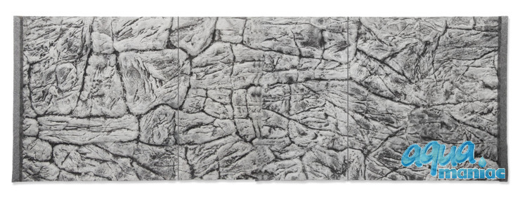 JUWEL Vision 450 3D thin grey rock background 148x56cm in 3 sections