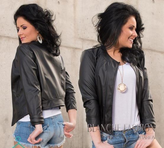 Ladies elegant sexy jacket Eco Leather size 12