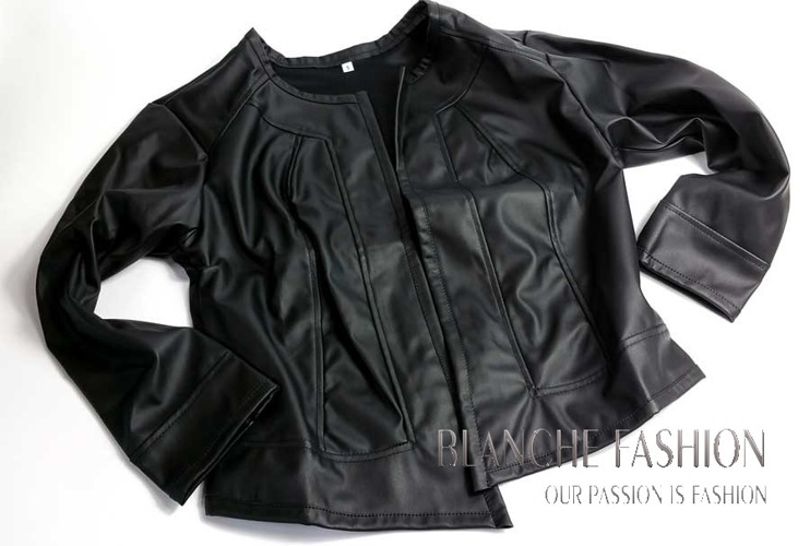 Ladies elegant sexy jacket Eco Leather size 14
