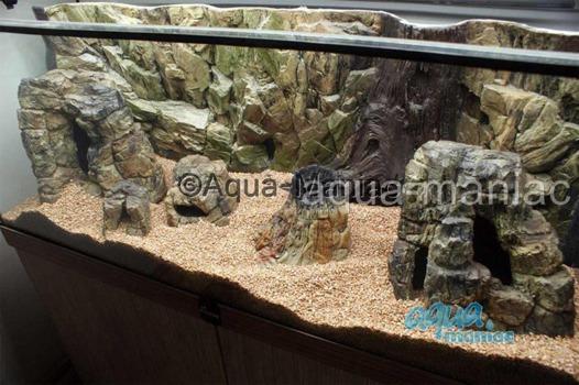 Large beige aquarium rock