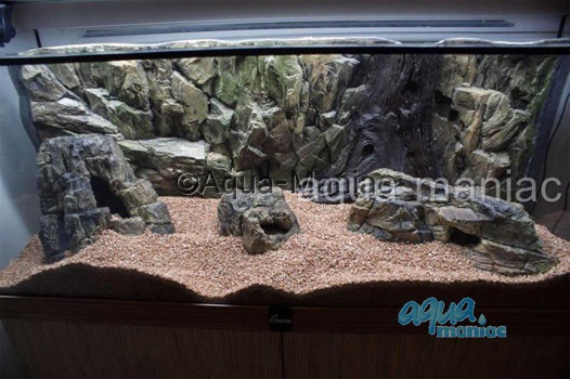 Large beige aquarium rock