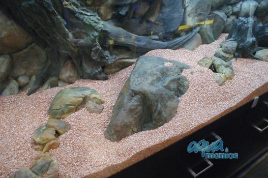 Long aquarium boulder empty inside