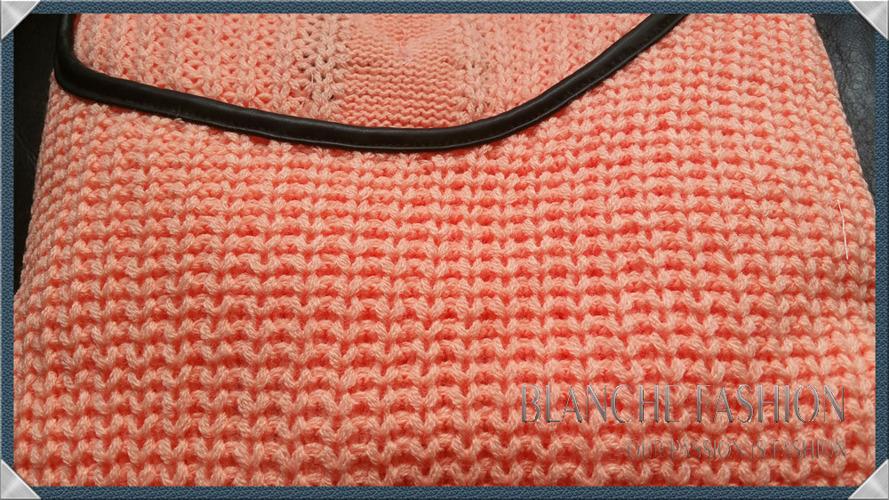 Orange Ladies Openwork Jumper Size 6-10