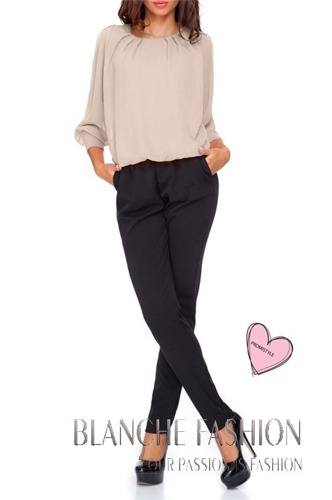 Woman Elegant Overall Casual size 6/8 Beige