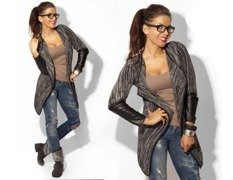 Black/Grey Blazer Bolero - One size