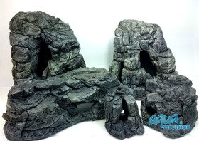 Bundle of 5 grey aquarium rocks - SAVE  £15