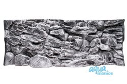 Fluval Roma 200 grey rock background 97x45 2 sections