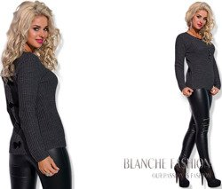 Graphite Ladies Openwork Jumper Size 6-10